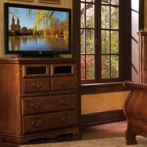 Furniture Traditions Alder Hill Media Console w/ 4 Drawers