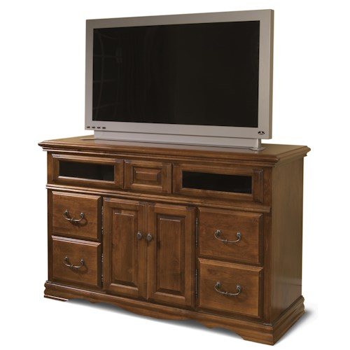 Furniture Traditions Alder Hill Console with 4 Deep Full Extension Drawers