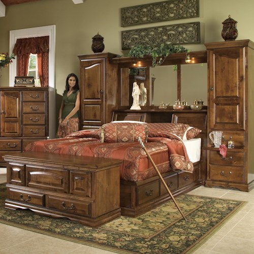 Furniture Traditions Alder Hill King Pier Group Bed