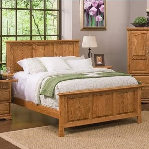 Furniture Traditions Master-Piece California King American Heritage Panel Bed