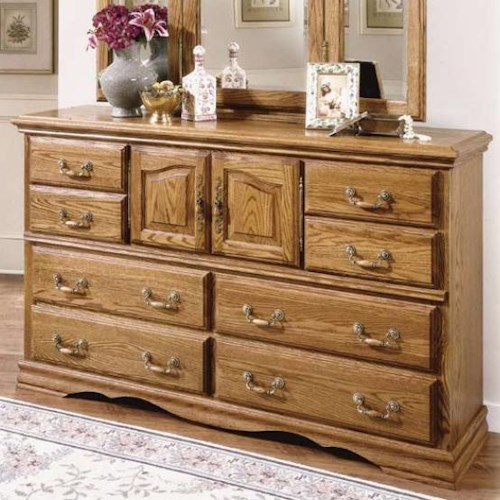 Furniture Traditions Master-Piece 10 Drawer and 2 Door Dresser with Locking Jewelry Drawer