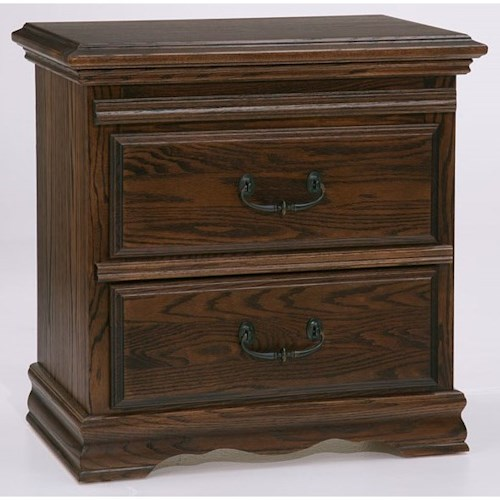 Furniture Traditions Master-Piece Nightstand with Pullout Tray with Moisture Guard