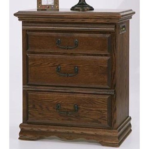 Furniture Traditions Master-Piece Left Facing 3 Drawer Nightstand
