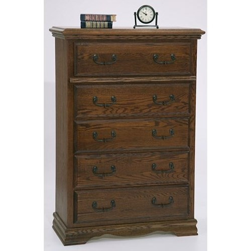 Furniture Traditions Master-Piece 5 Drawer Chest with Lift Top Jewelry Storage