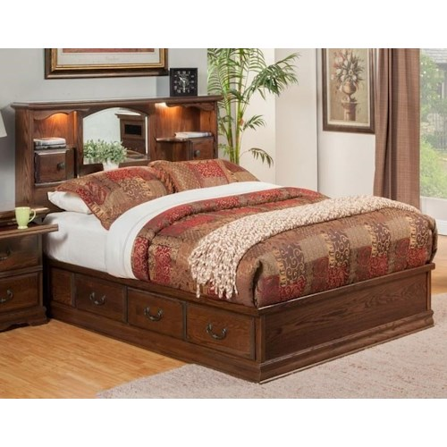 Furniture Traditions Master-Piece King Nostalgia Bookcase Bed
