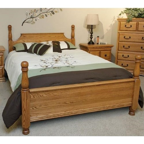Furniture Traditions Master-Piece Solid Wood Oak Full American 4-Poster Bed