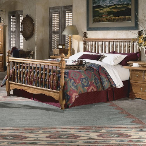 Furniture Traditions Master-Piece Twin Deluxe Spindle Bed