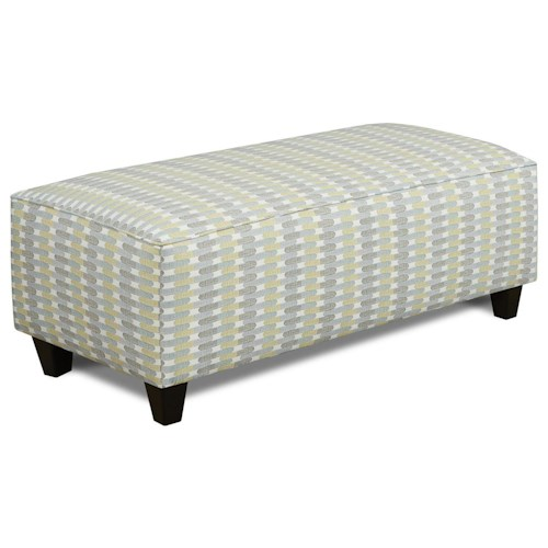 Fusion Furniture 100 Contemporary Cocktail Ottoman