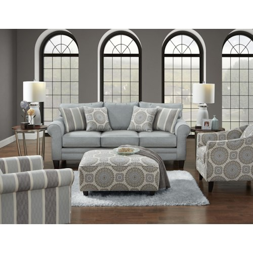 Fusion Furniture 1140 Grande Mist Living Room - Fusion Furniture 1140 Grande Mist Living Room - Furniture Fair