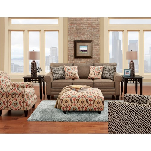 Fusion Furniture 1140 Stationary Living Room Group