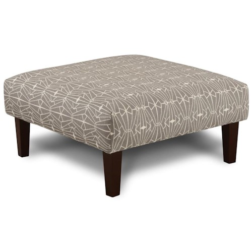 Fusion Furniture 159 Contemporary Cocktail Ottoman
