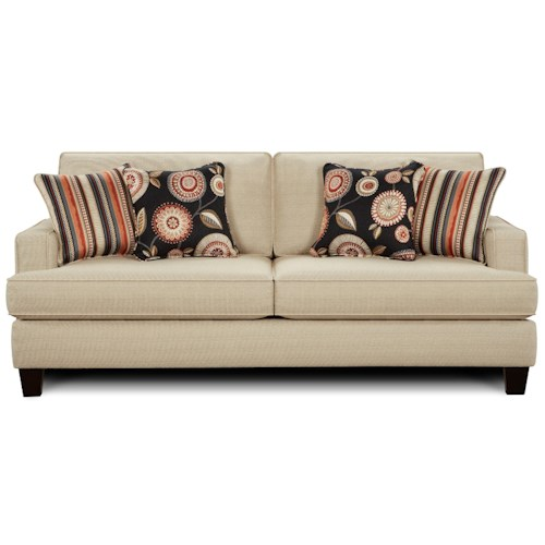 Fusion Furniture 2490 Contemporary Sleeper Sofa with Track Arms