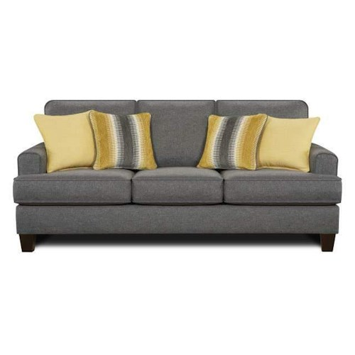 Fusion Furniture 2600 Maxwell Gray Maxwell Gray Sofa