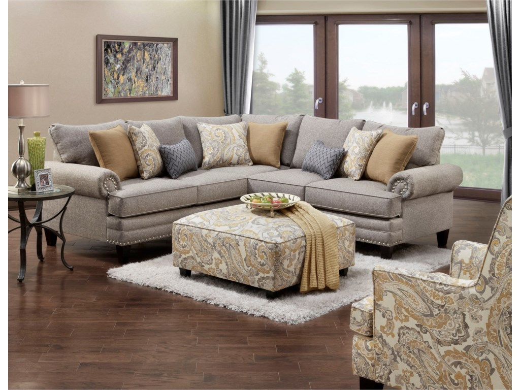 Fusion Furniture 260 Transitional Wing Back Chair Olinde39s