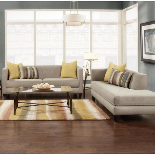 Fusion Furniture 2700-KP Stationary Living Room Group