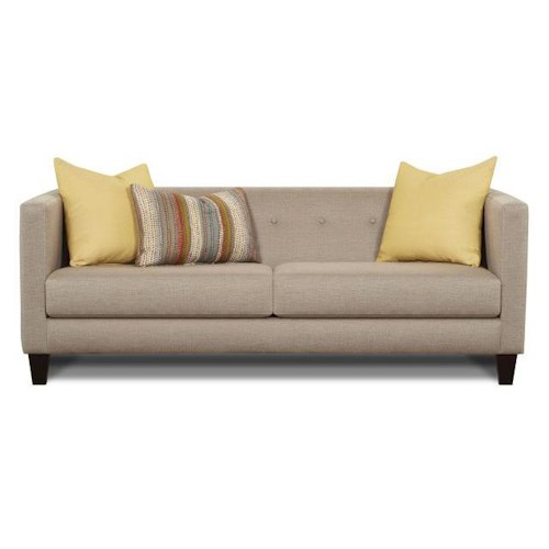 Fusion Furniture 2700-KP Contemporary Sofa with Tuxedo Back