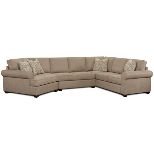 Fusion Furniture 2900 3-Piece Sectional with Left Cuddler