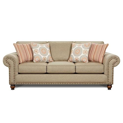 Fusion Furniture 3110 Turino Sisal Queen Sofa Sleeper