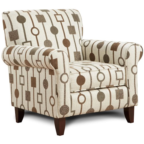 Fusion Furniture 502 - Crossbow Sante Fe Print Fabric Accent Chair