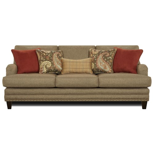 Fusion Furniture 5960 Transitional Sofa with English Rolled Arms