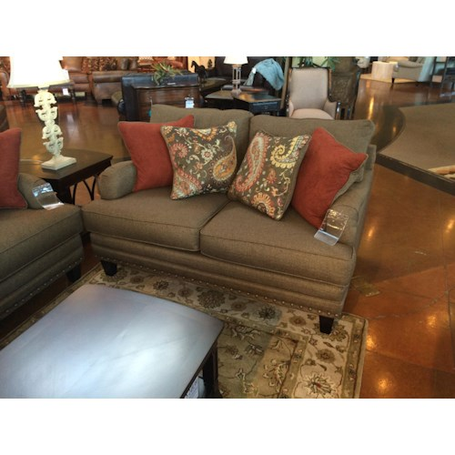 Fusion Furniture 5960 Transitional Loveseat with English Rolled Arms