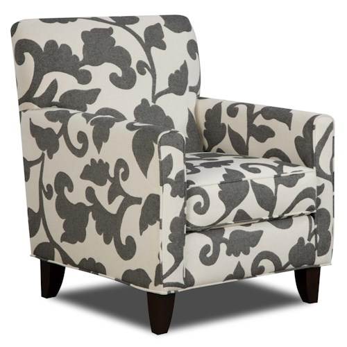 Fusion Furniture 702 - Marcie Onyx Contemporary Accent Chair