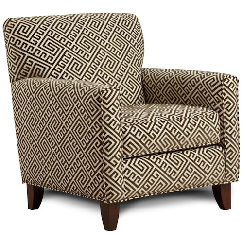 Fusion Furniture 702 - Thespian Mocha Contemporary Accent Chair