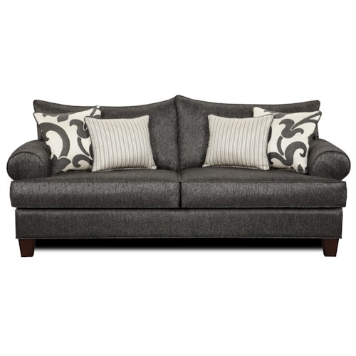 Fusion Furniture 910 Sofa w/ Loose Seat Cushions