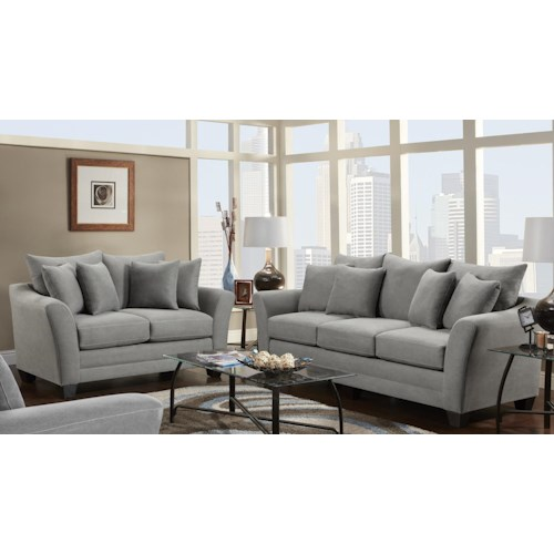 Fusion Furniture Urban Rider Stationary Living Room Group