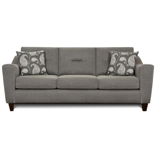 Fusion Furniture 8100 Contemporary 3 Cushion Sofa