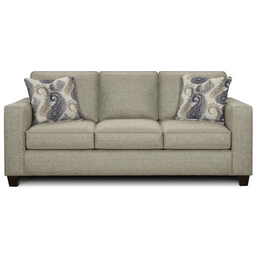 Fusion Furniture 3560 Casual Three Cushion Sofa