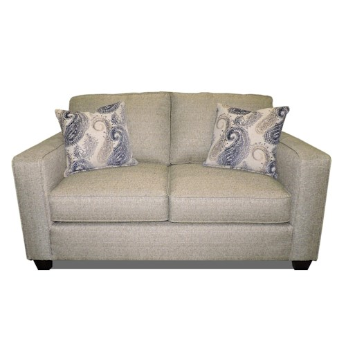 Fusion Furniture 3560 Contemporary Loveseat with Track Arms