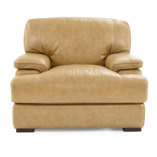 Futura Leather 10027 Casual Chair with Pillow Arms