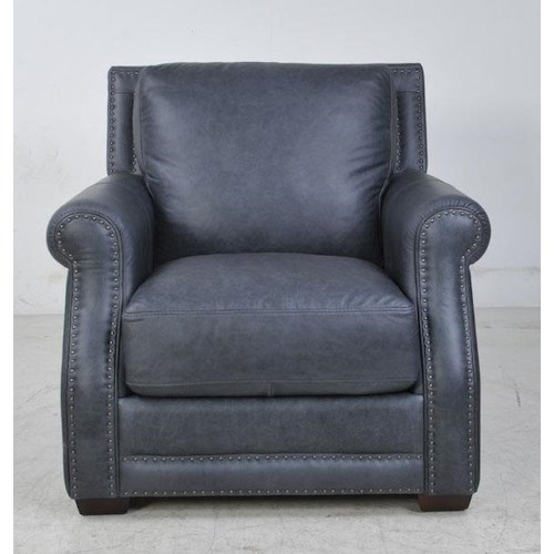 Futura Leather 10030 Fusion Charcoal Leather Chair