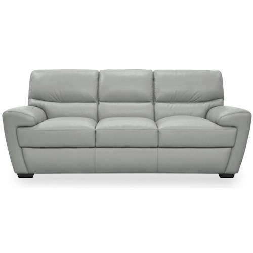 Futura Leather 10131 Contemporary Sofa with Angled Arms