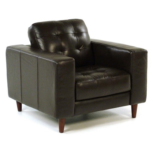 Loft Leather Benjamin Contemporary Leather Chair