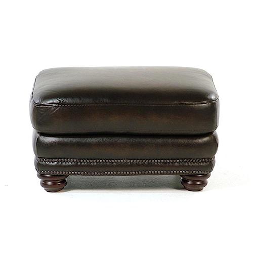 Loft Leather Kirkland Leather Ottoman