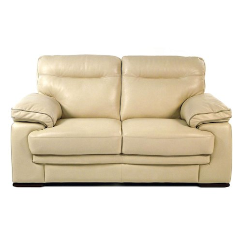 Loft Leather 8542-L Contemporary Leather Loveseat