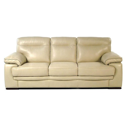 Loft Leather 8542-L Contemporary Leather Sofa
