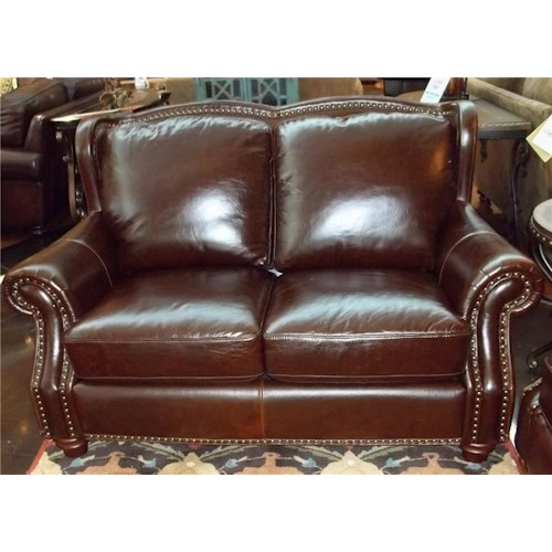Futura Leather 7031 1941S Rialto Coffee Leather Loveseat