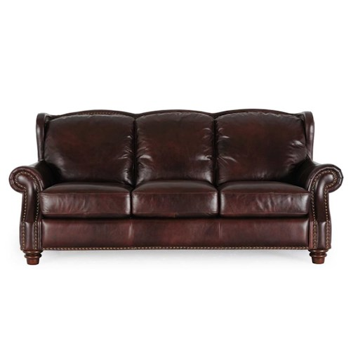 Futura Leather 7031 1941S Rialto Coffee Leather Sofa