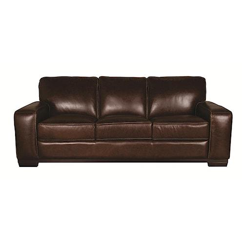 Morris Home Furnishings Erin 100% Leather Sofa