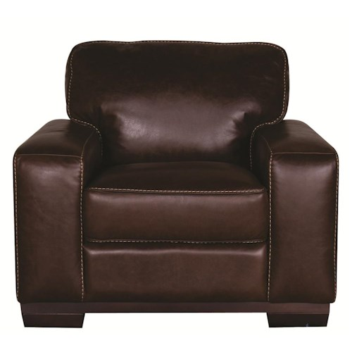 Morris Home Furnishings Erin 100% Leather Chair