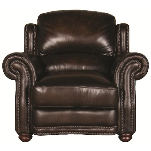 Morris Home Furnishings Harrison 100% Leather Chair