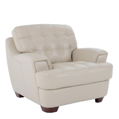 Futura Leather 7182 Chair with Tufted Seat