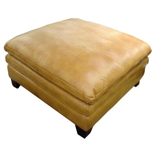 Futura Leather 7203 Leather Cocktail Ottoman