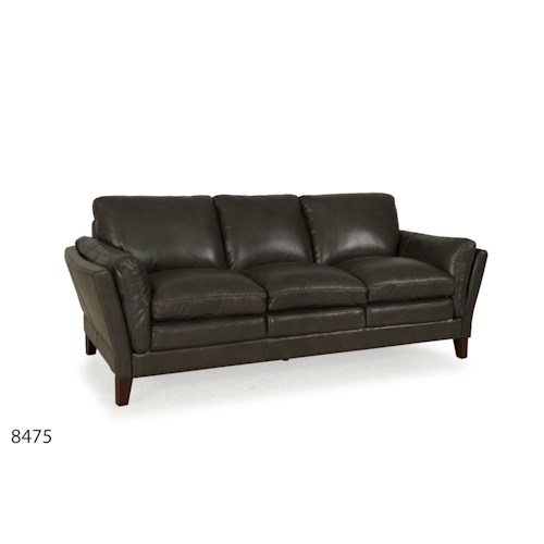 Futura Leather 8475 Leather Flared Arm Sofa
