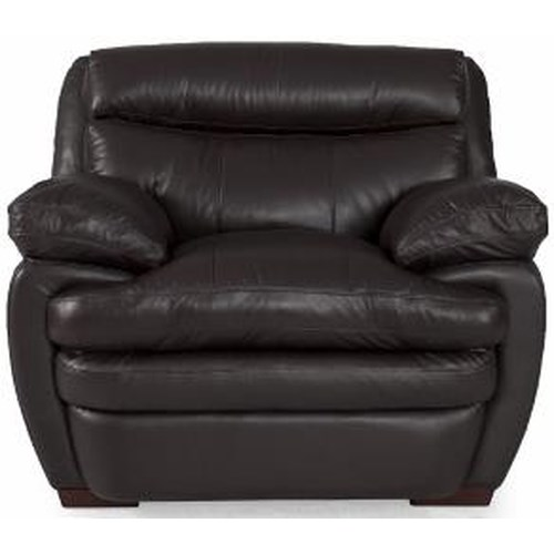 Futura Leather 8172 Casual Chair with Pillow Arms