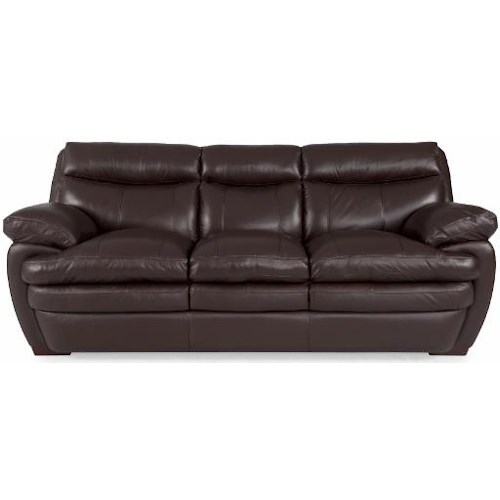 Futura Leather 8172 Casual Sofa with Pillow Arms