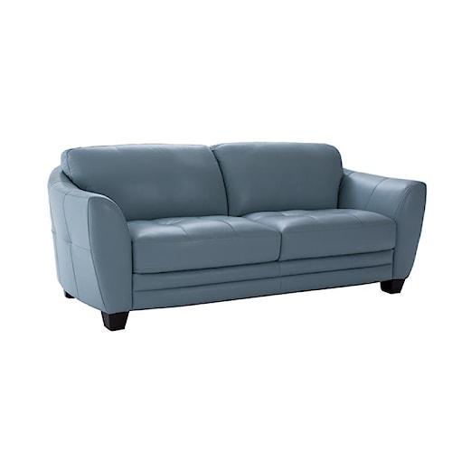 Futura Leather 8511 Stationary Sofa w/ Flared Arms